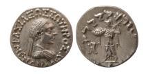 "Ancient Coins - KINGS of BAKTRIA. Menander I. Circa 165/55-130 BC. AR Drachm. Choice Superb ""As Struck""."