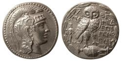 Ancient Coins - ATTICA, Athens. Ca. 135-134 BC. AR Tetradrachm. New Style Coinage.