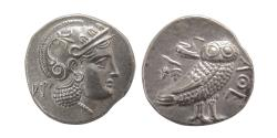 Ancient Coins - BAKTRIA, Pre-Seleukid Era. Sophytes. Circa 305-294 BC. AR Didrachm. Lovely strike. Extremely Rare.