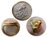Ancient Coins - EPIROS. 234-168 BC. Silver Drachm. Set in a Custom-made 18K. Gold Ring. Ring Size 9.