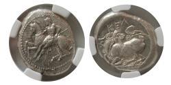 Ancient Coins - CILICIA. Celenderis. Ca. 425-350 BC. AR stater.  NGC-AU. Lustrous.