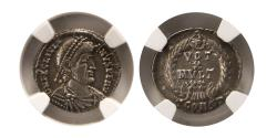 Ancient Coins - ROMAN EMPIRE. Julian II. 360-363 AD. AR Siliqua. Arelate (Arles). NGC XF. (Strike 5/5; Surface 4/5).