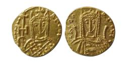 Ancient Coins - BYZANTINE EMPIRE. Irene. AD. 797–802. Gold Solidus. Syracuse mint. Lustrous. Rare.