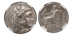 Ancient Coins - SELEUKID KINGDOM, Seleucus I. 312-281 BC. AR Tetradrachm. NGC Choice XF.