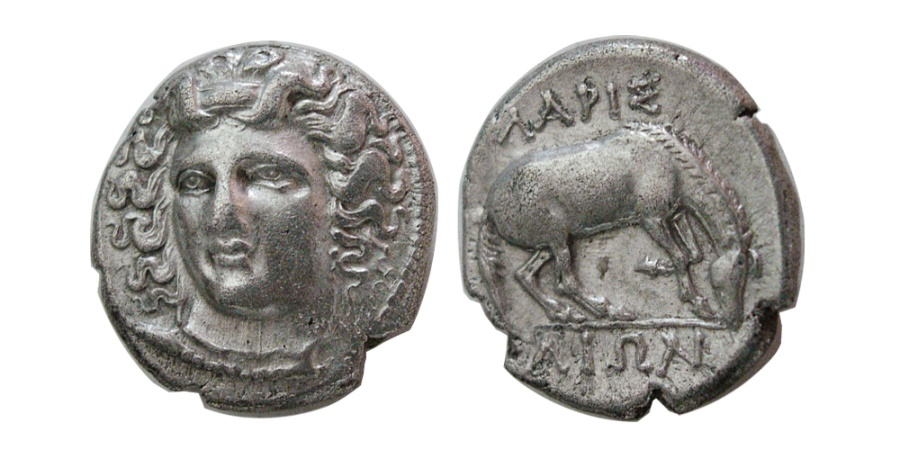 Ancient Coins - THESSALY, Larissa. Circa 356-342 BC. AR Drachm. Lovely style.