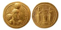 Ancient Coins - SASANIAN KINGS. Bahram II. 276-293 AD. Gold Dinar. Lovely strike. Rare.