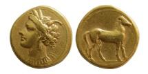 Ancient Coins - ZEUGITANA, Carthage. Circa 310-290 BC. AV Stater.