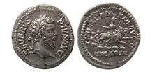 ROMAN EMPIRE. Septimius Severus. 193-211 AD. AR Denarius. Lovely strike.