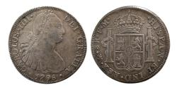 World Coins - SPAIN, Carlos IV.  1788-1808.  AR 8 reales. Mexico, dated 1798. FM.