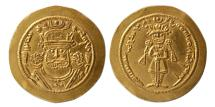 Ancient Coins - SASANIAN KINGS. Khosrau II. 590-628 AD. Gold Light Dinar. Choice Mint State. Rare.
