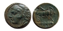 "Ancient Coins - MACEDONIAN KINGDOM. Alexander III, ""the Great."" 336-323 B.C. Æ. Rare left facing variety."