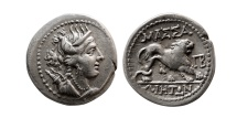 Ancient Coins - GAUL, Massilia. ca. 150-130 BC. Silver Tetrobol. Lovely strike.