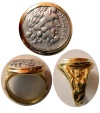 Ancient Coins - EPIROS. 234-168 BC. Silver Drachm (19mm).  Set in a Custom-made 18K. Gold Ring.