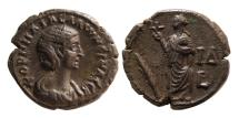 Ancient Coins - EGYPT, Alexandria. Salonina. AD. 254-268. Æ Tetradrachm.