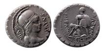ROMAN REPUBLIC. M. Aquillius M.f. 65 BC. AR Denarius.