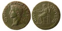 Ancient Coins - ROMAN EMPIRE. Divus Augustus. Died 14 AD. Æ Dupondius.