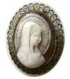 Ancient Coins - VICTORIAN ENGRAVED SARDONYX Brooch. Circa 1800s. Perfect condition. Intact. Rare.