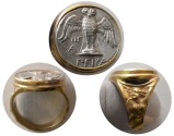 Ancient Coins - PONTOS, Amisos. Late 5th-4th century BC. AR Siglos. Set in a Custom-made 18K. Gold Ring.