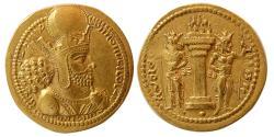 SASANIAN KINGS. Shahpur I. AD. 240-272. Gold Dinar. Rare Variety.