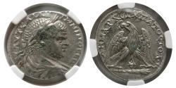 Ancient Coins - PHOENICIA, Tyre. Caracalla. AD. 198-217. BL Tetradrachm. NGC-Choice XF.