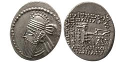 Ancient Coins - KINGS of PARTHIA. Vologases IV. Circa AD. 147-191. AR Drachm.