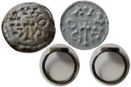 Ancient Coins - BYZANTINE EMPIRE. Ca. 9th-10th. Century AD. Bronze seal ring