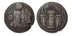 Ancient Coins - SASANIAN KINGS. Varahran (Bahram) II. AD. 276-293. AR Drachm.