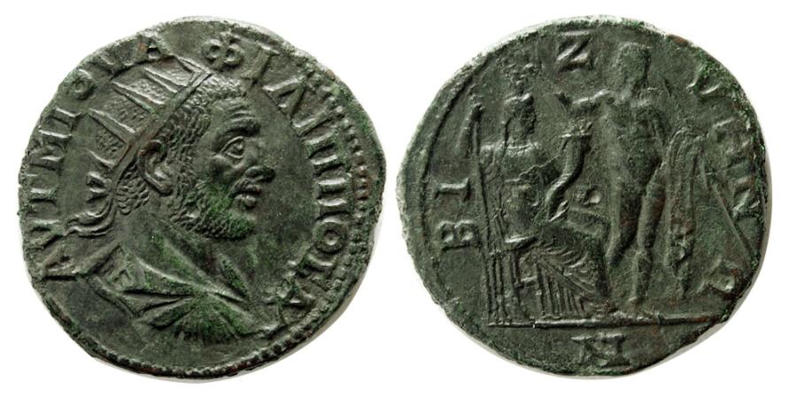 Ancient Coins - THRACE, Bizya. Philip I. A.D. 244-249. Æ . Rare.