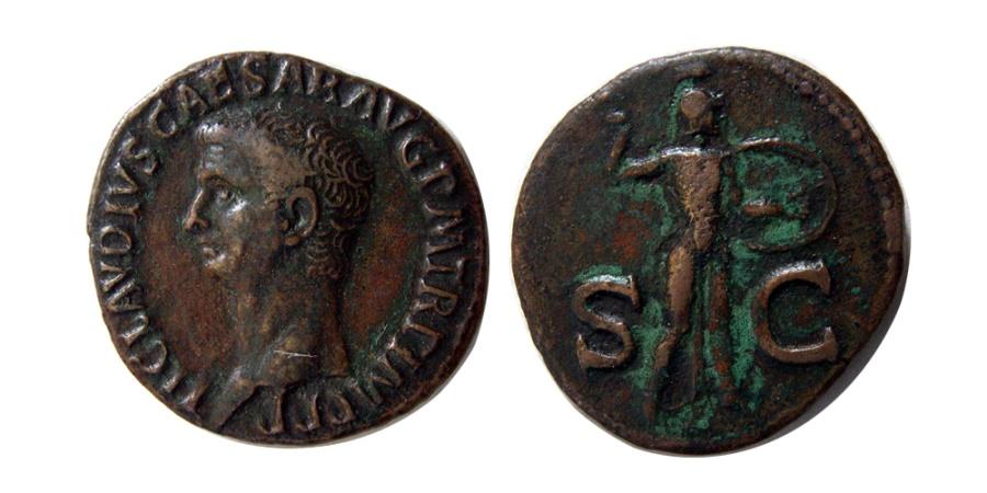 Ancient Coins - ROMAN EMPIRE. Claudius. 41-54 AD. AE As.