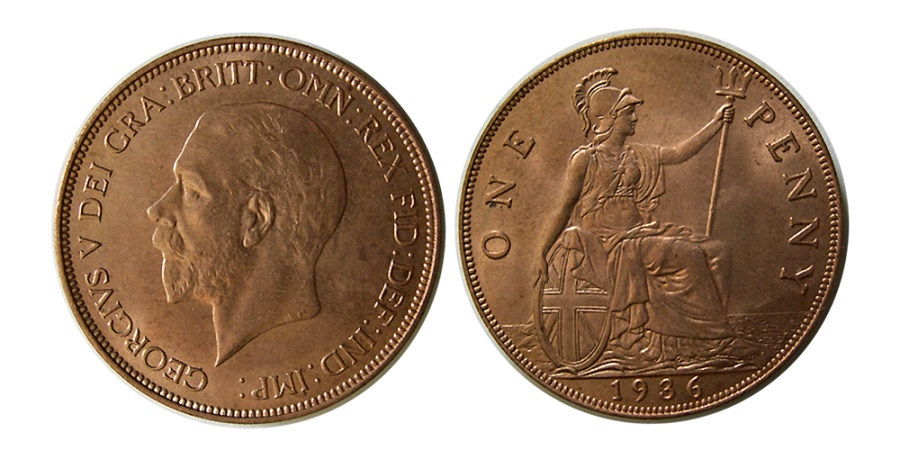 World Coins - GREAT BRITAIN. George V. 1936. One Penny.