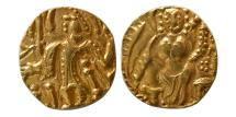 World Coins - INDIA, Post Kidaraite. Circa 5th Century AD. AV Stater.