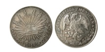 World Coins - MEXICO REPUBLIC. 1885 J.S. 8 Reales.
