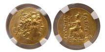 Ancient Coins - PONTIC KINGDOM, Mithradates VI. 120-63 BC. Gold Stater.  NGC AU (Strike 5/5; Surface 3/5). Tomis