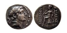 Ancient Coins - SELEUKID KINGS; Demetrios I Soter. 162-150 BC. AR Drachm. Ekbatana mint. Scarce.