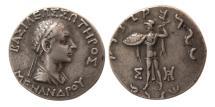 Ancient Coins - BAKTRIA, Indo-Greek Kings. Menander. Circa 165/155-130 BC. AR Tetradrachm .