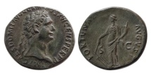 Ancient Coins - ROMAN EMPIRE. Domitian. 81-96 AD.  Æ As.