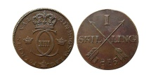 World Coins - SWEDEN. Carl XIII. 1810-1817. 1 Skilling.