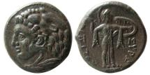 Ancient Coins - SICILY, Syracuse. Pyrrhos. 278-276 BC. Æ 24mm. Lovely strike. Rare. Exceptional quality for the issue