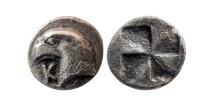 AEOLIS, Kyme. Circa 450-400 BC. AR Hemiobol.
