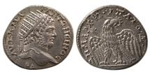 Ancient Coins - MESOPOTAMIA, Carrhae. Caracalla. 198-217 AD. AR Tetradrachm. Lovely strike. FDC. Lustrous.