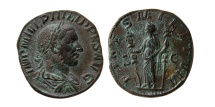 Ancient Coins - ROMAN EMPIRE. PHILIP I. AD. 244-249. AE Sestertius