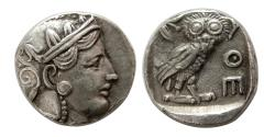 Ancient Coins - ATTICA, Athens. Circa 353-294 BC. AR Tetradrachm. Contemporary imitation. Rare !