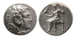 Ancient Coins - KINGS of MACEDON. Alexander III. 336-323 BC. AR Tetradrachm. Babylon, struck under Perdikkas.