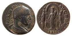Ancient Coins - SYRIA, Coele-Syria. Heliopolis. Philip I, AD. 244-249. Orichalcum Tetrassarion.