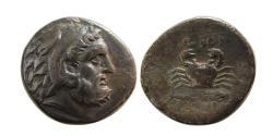 Ancient Coins - CARIA, Islands off. Kos. Circa 190-166 BC. AR Drachm. Rare.