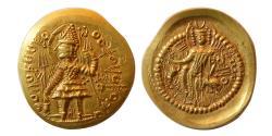 Ancient Coins - INDIA; KUSHAN KINGS. Vasudeva II.  290-310 AD. Gold Dinar. Choice Superb.