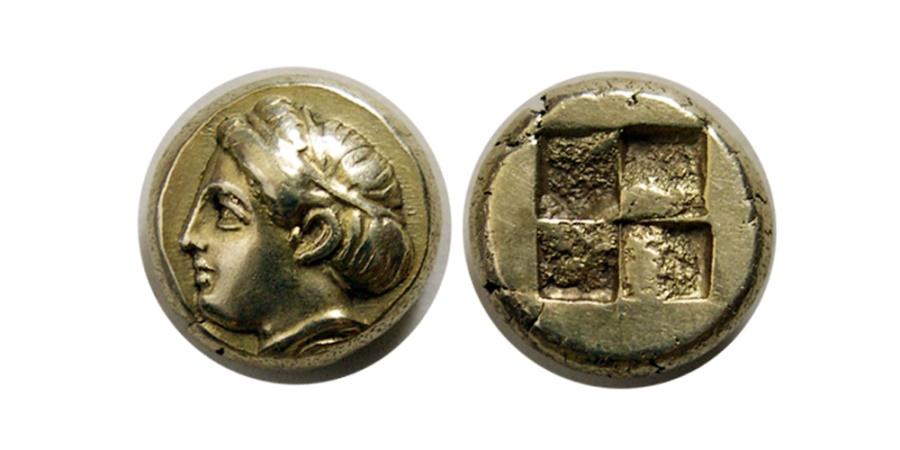 Ancient Coins - IONIA, Phokaia. Circa 478-387 BC. EL Hekte.