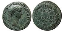 Ancient Coins - ROMAN EMPIRE. Claudius. AD. 41-54. Æ Sestertius. Lovely strike.