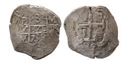 World Coins - SPAIN. Felipe V. 1739. AR 8 Real. Potosi. M. Full clear date.