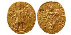 World Coins - INDIA, KUSHAN EMPIRE. Vasudeva II. Circa 290-310 AD. Gold Dinar.